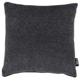 Tmavě šedý polštář Nordic Living Boras 45x45 cm