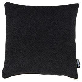 Černý polštář Nordic Living Boras 45x45 cm