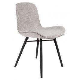 White Label Living Světle šedá jídelní židle WLL LESTER