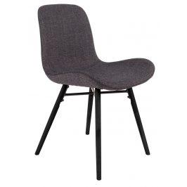 White Label Living Antracitově šedá jídelní židle WLL LESTER