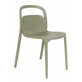 White Label Living Zelená plastová židle WLL Rex