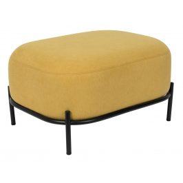 White Label Living Žlutý čalouněný taburet WLL POLLY