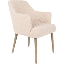 White Label Living Krémová jídelní židle WLL SOLANCE