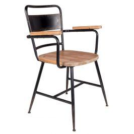 Černá kovová jídelní židle WLL GENE