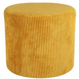 Time for home Žlutý manšestrový taburet Gobi 45 cm