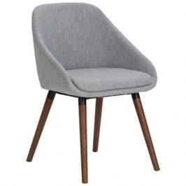 SCANDI Šedá látková židle Lensi