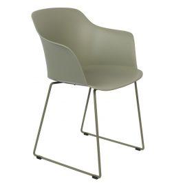 White Label Living Zelená plastová jídelní židle WLL TANGO