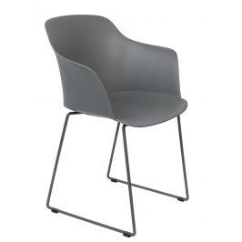 White Label Living Šedá plastová jídelní židle WLL TANGO