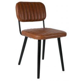 White Label Living Hnědá čalouněná židle WLL JAKE WORN
