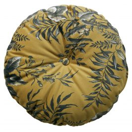 Hoorns Žlutý kulatý polštář Tergi
