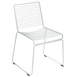 Culty Bílá kovová židle Zolla