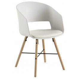SCANDI Bílá plastová jídelní židle Relia