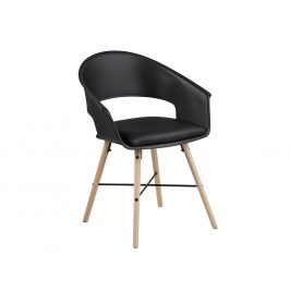 SCANDI Černá plastová jídelní židle Relia