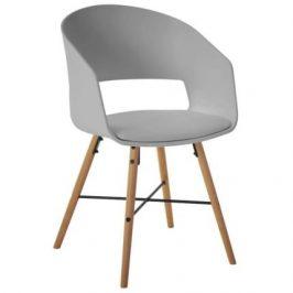 SCANDI Šedá plastová židle Relia