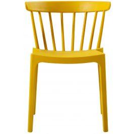 Hoorns Žlutá plastová jídelní židle Marbel