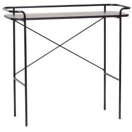 Černý dřevěný toaletní stolek Hübsch Maja 100x37 cm Toaletní stolky do ložnice
