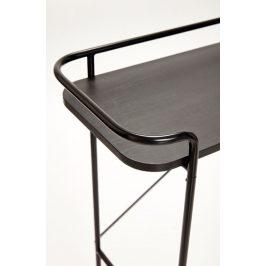 Černý dřevěný toaletní stolek Hübsch Maja 100x37 cm