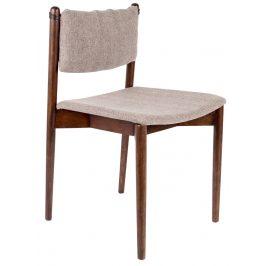 Hnědá dřevěná jídelní židle DUTCHBONE Torrance