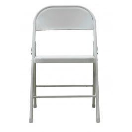 House Doctor Světle šedá kovová židle Fold it