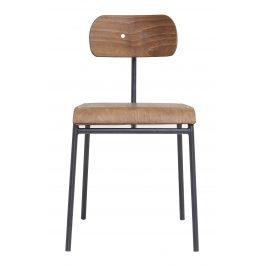 House Doctor Přírodní dřevěná jídelní židle School