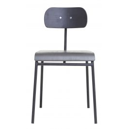 House Doctor Šedá dřevěná jídelní židle School