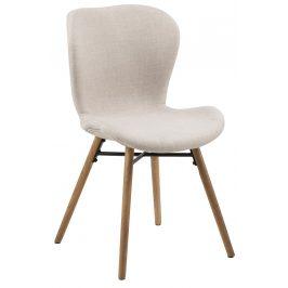 SCANDI Béžová čalouněná jídelní židle Matylda
