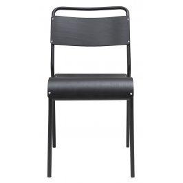 House Doctor Šedá dřevěná jídelní židle Original