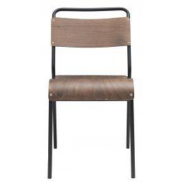 House Doctor Tmavě hnědá dřevěná jídelní židle Original