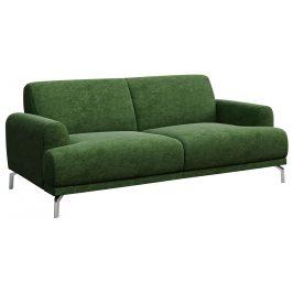Tmavě zelená dvoumístná čalouněná pohovka MESONICA Puzo 170 cm
