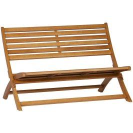 Hoorns Přírodní dřevěná zahradní lavice Mundo