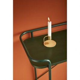 Zelený dřevěný toaletní stolek Hübsch Maja 100x37 cm