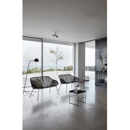 Černý kovový toaletní stolek Hübsch Edeli 100x30 cm