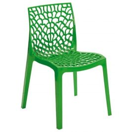 SitBe Tmavě zelená plastová jídelní židle Coral-C