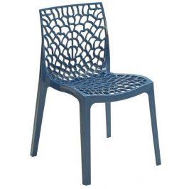 SitBe Modrá plastová jídelní židle Coral-C