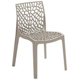 SitBe Šedá plastová jídelní židle Coral-C