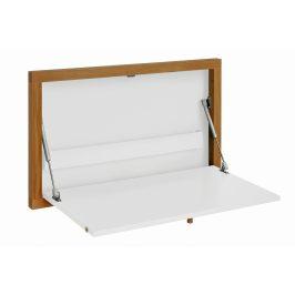 Bílý dubový vyklápěcí stůl Woodman Brenta 74x8 cm