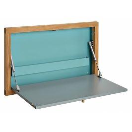 Tyrkysový dubový vyklápěcí stůl Woodman Brenta 74x8 cm