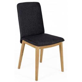 Černá čalouněná jídelní židle Woodman Adra