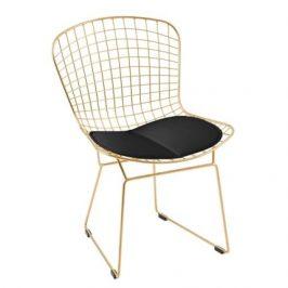 Culty Gold Židle Harry, zlatá/bílá