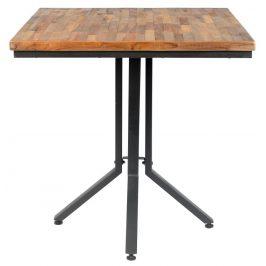White Label Living Přírodní dřevěný jídelní stůl WLL MAZE SQUARE 75x75 cm