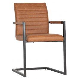 Hoorns Koňakově hnědá jídelní židle Jefrey
