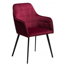 DAN-FORM Červená sametová židle DanForm Embrace