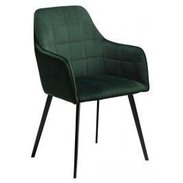DAN-FORM Zelená sametová židle DanForm Embrace