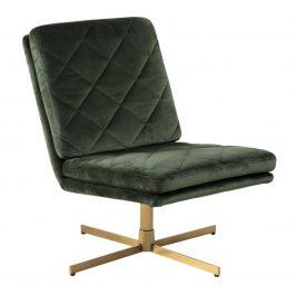 SCANDI Lahvově zelená sametová židle Major
