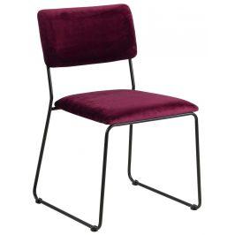 SCANDI Červená sametová jílní židle Litta