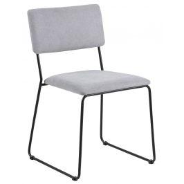 SCANDI Světle šedá látková jídelní židle Litta