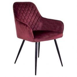 Vínová sametová jídelní židle Nordic Living Malvik