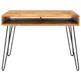 Moebel Living Přírodní masivní pracovní stůl Remus 100 cm