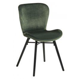 SCANDI Zelená sametová jídelní židle Matylda Židle do kuchyně