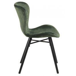 SCANDI Zelená sametová jídelní židle Matylda